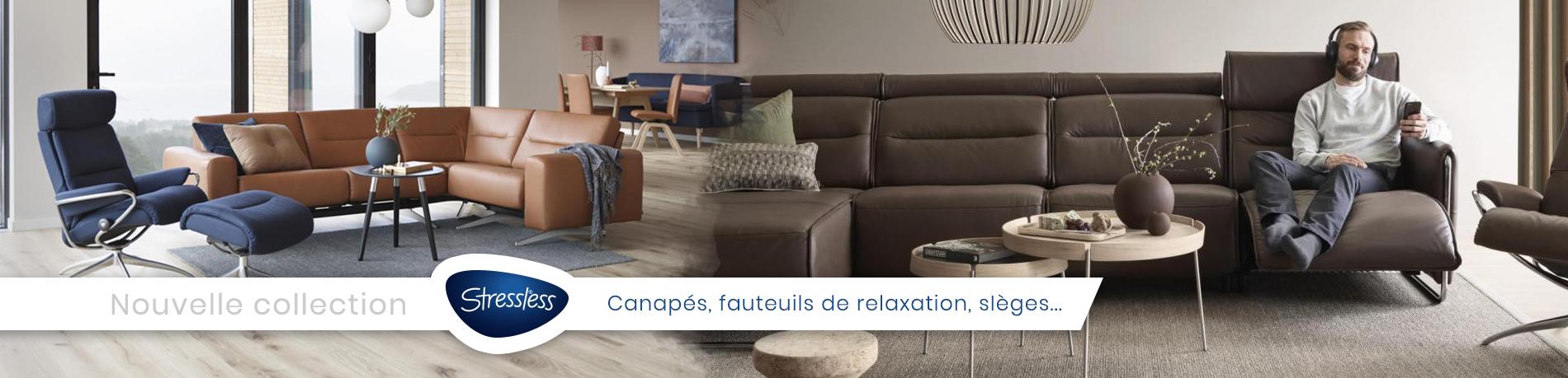 canapés et fauteuils de relaxation Stressless sur Meximieux